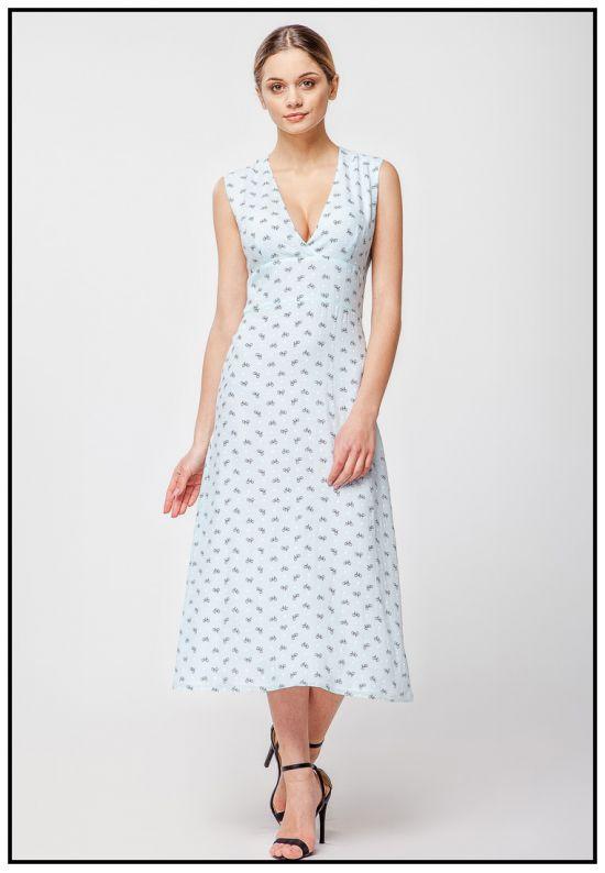 Платье миди нежно-мятного цвета