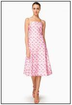 Платье миди нежно-пурпурного цвета