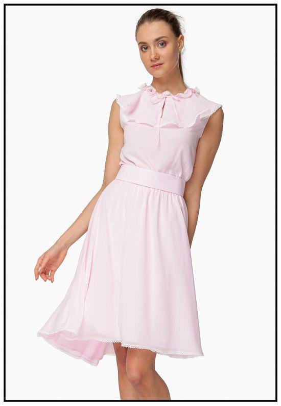 Платье миди нежно-розового цвета