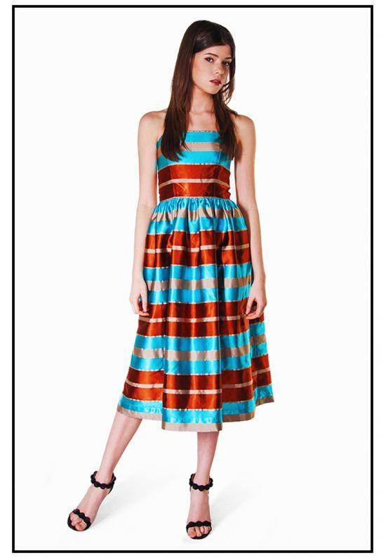 Платье миди шелковое
