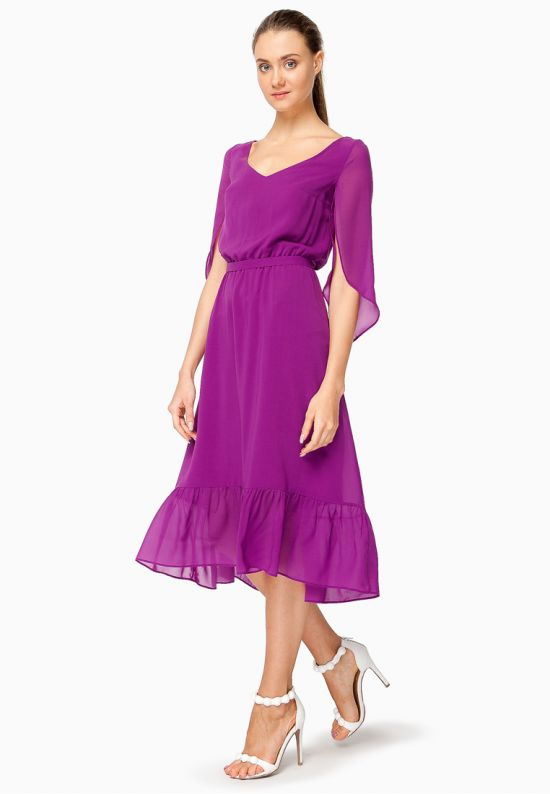 Платье миди ультрафиолет