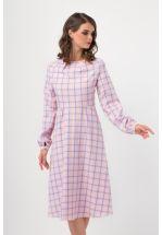 Платье миди в клетку