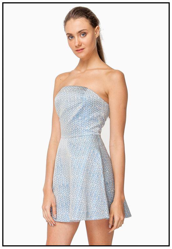 Платье мини бюстье
