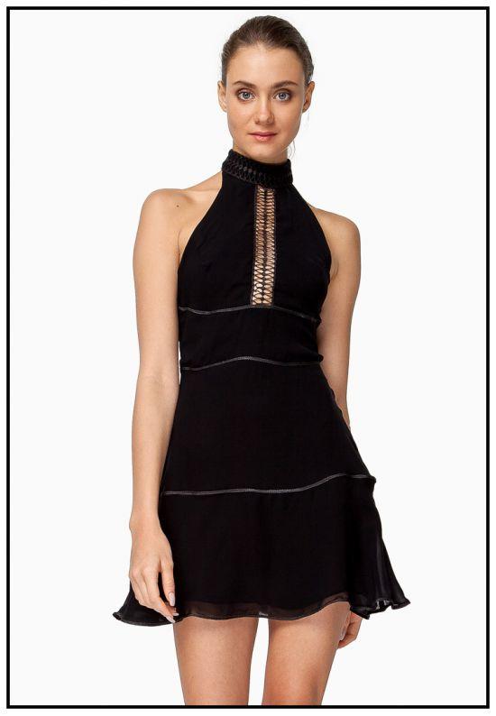 Платье мини черного цвета