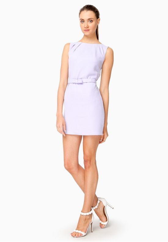 Платье мини фиалкового цвета