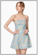 Платье мини голубое