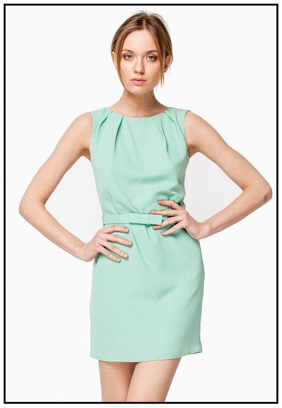 Платье мини мятного цвета