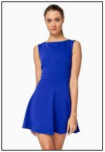 Платье мини насыщенно синего цвета
