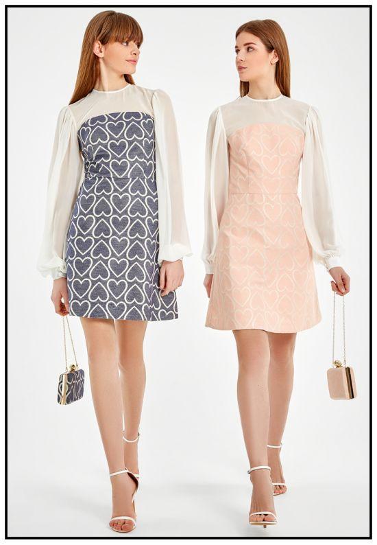 Платье мини нежно-розового цвета