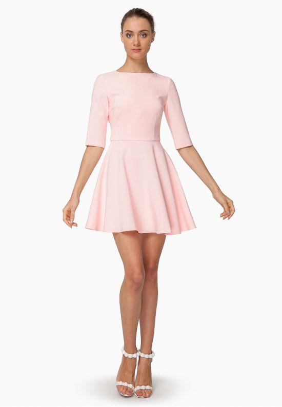 Платье мини с открытой спинкой