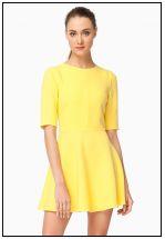 Платье мини с юбкой