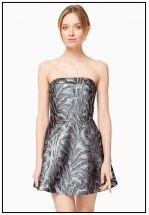 Платье мини со стильным узором