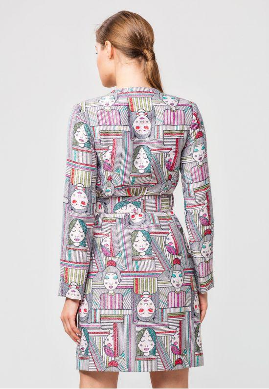 Платье-пальто из жаккарда