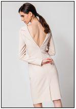 Платье-пиджак в цвете крем-брюле