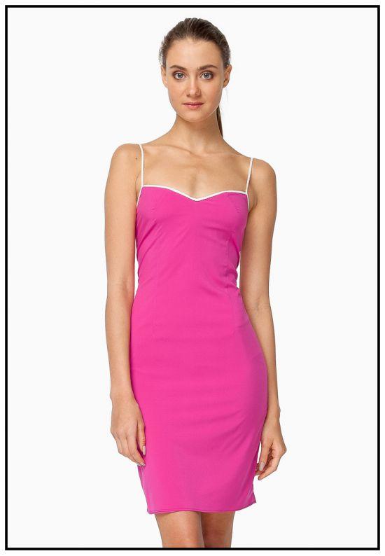 Платье-сарафан малиновое