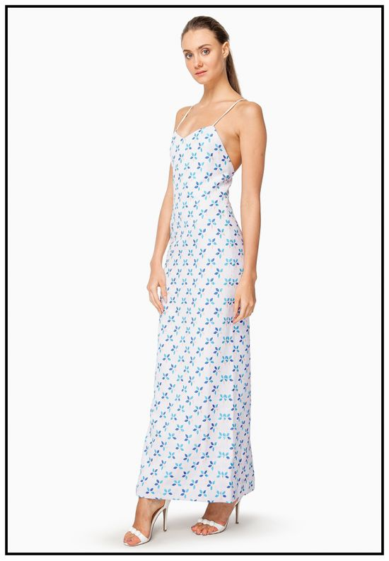 Платье-сарафан нежно-пурпурного цвета