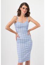 Платье-сарафан в клетку