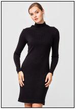 Платье трикотажное черного цвета