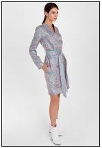 Платье-жакет из жаккарда