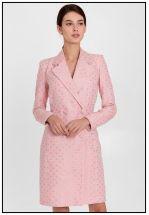 Платье-жакет в нежно-розовом цвете