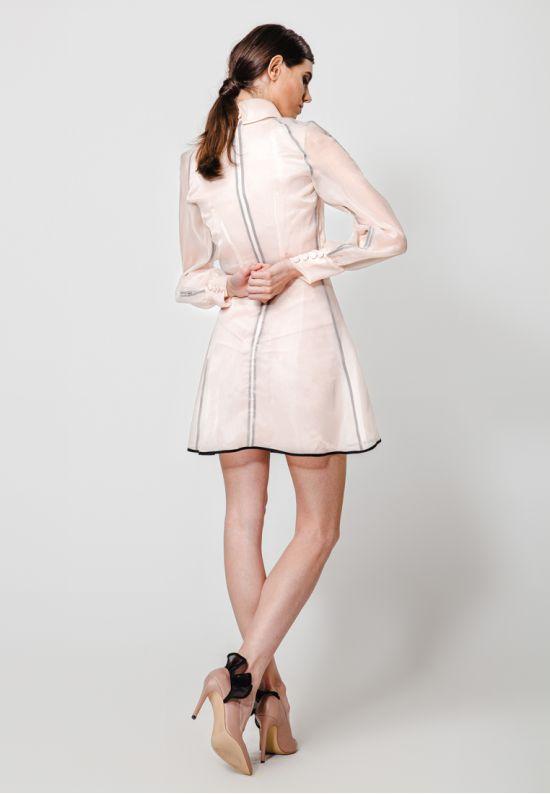 Полупрозрачное платье мини из органзы