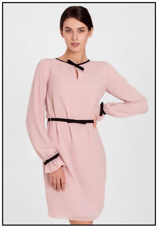 Пудровое платье мини