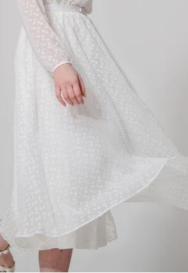 Романтичное шифоновое платье миди