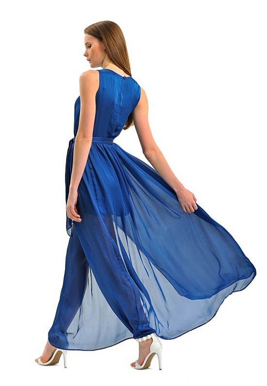 Шелковое длинное платье