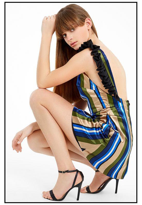 Шелковое мини платье