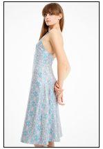 Шелковое платье миди