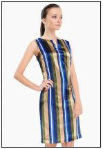 Шелковое платье в полоску