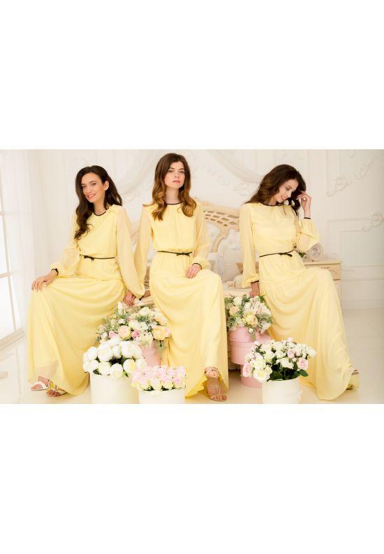 Шелковое желтое платье