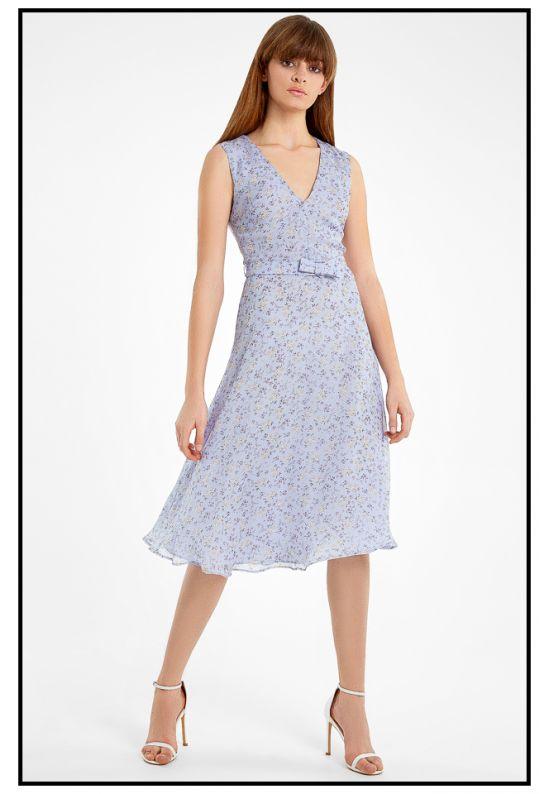 Шифоновое фиалковое платье