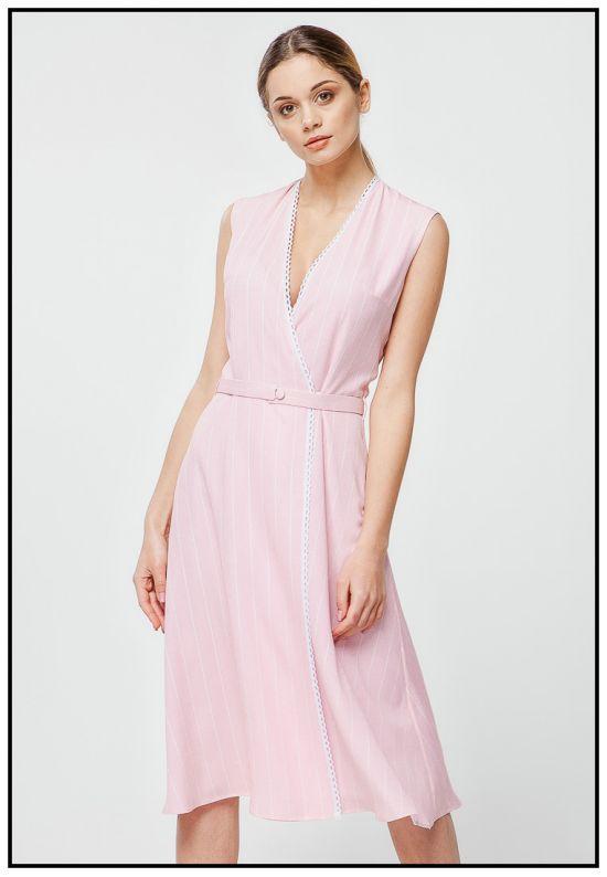 Шифоновое платье миди на запах