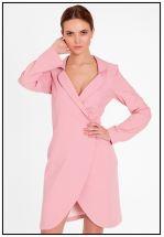 Шикарное платье-жакет в розовом цвете