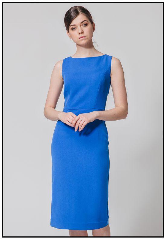 Синее платье - футляр