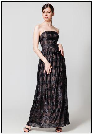 Вечернее черное платье-бюстье