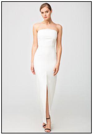 Вечернее платье-бюстье в пол