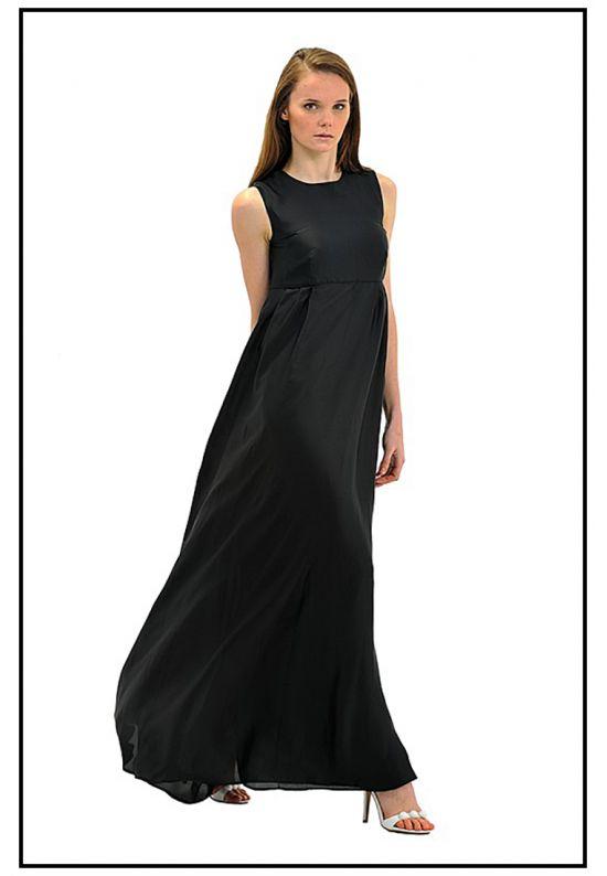 Вечернее платье из струящегося шифона