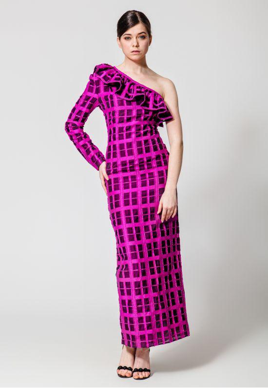 Вечернее платье в пол с воланом