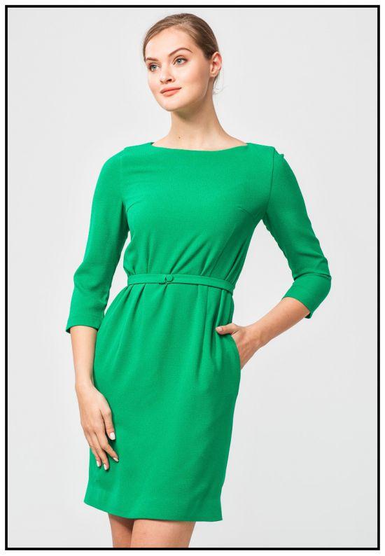 Ярко-зеленое платье