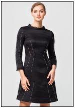 Жаккардовое эксклюзивное платье