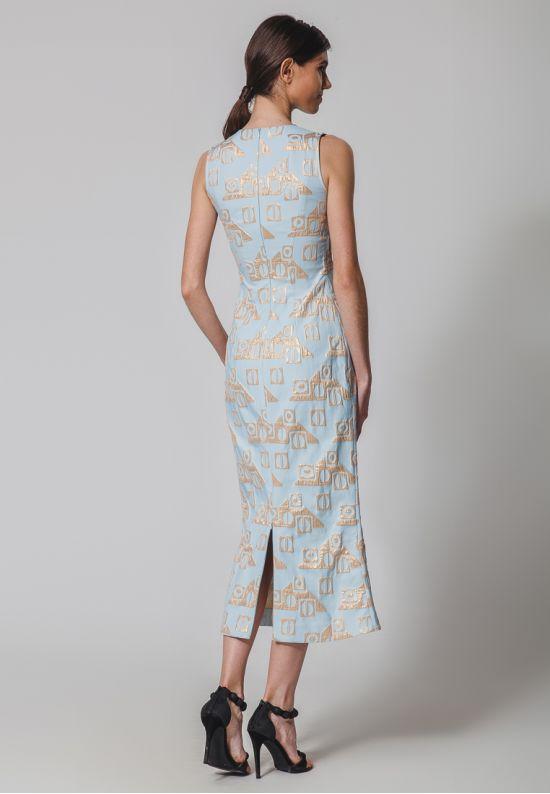 Жаккардовое платье миди