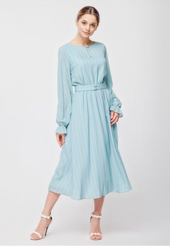 Женственное платье мятного цвета